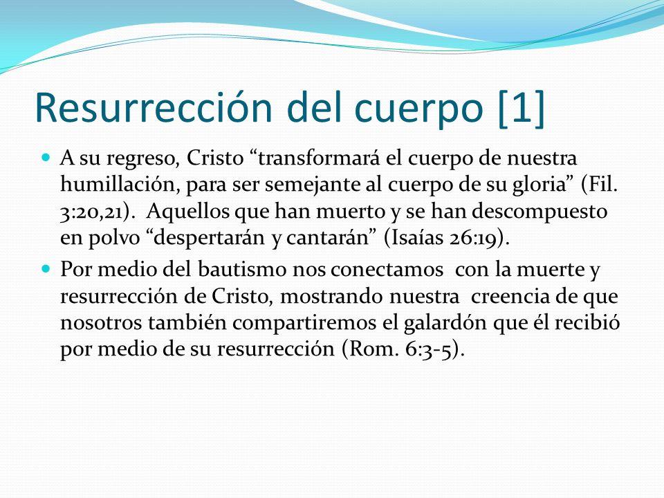 Resurrección del cuerpo [1]